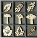 Грибы и листья Декоративные деревянные элементы Efco