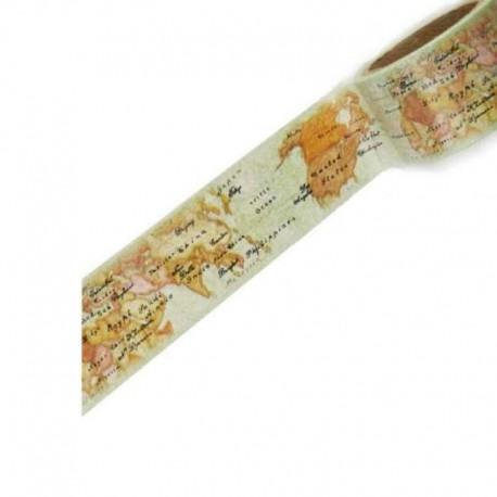 Географическая карта Скотч декоративный для скрапбукинга Stamperia