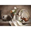 Кофейный аромат Канва с рисунком для вышивки Матренин посад