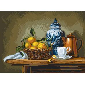 Натюрморт с мандаринами Ткань с рисунком Матренин посад