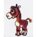 Лошадка Ткань с рисунком Матренин посад