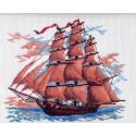 Алые паруса Канва с рисунком для вышивки Матренин посад