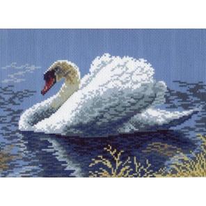 Лебедь-кликун Ткань с рисунком Матренин посад