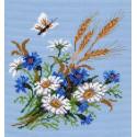 Полевой букет Ткань с рисунком Матренин посад