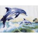 Дельфины Канва с рисунком для вышивки Матренин посад