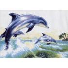 Дельфины Ткань с рисунком Матренин посад