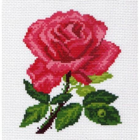 Роза Ткань с рисунком Матренин посад