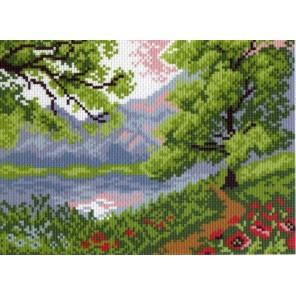 Пейзаж в горах Ткань с рисунком Матренин посад