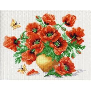 Маки Ткань с рисунком Матренин посад