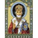 Икона Святой Николай Чудотворец Канва с рисунком для вышивки Матренин посад