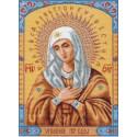 Икона Умиление Канва с рисунком для вышивки Матренин посад