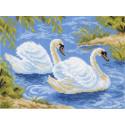 Тундровые лебеди Ткань с рисунком Матренин посад