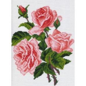 Розовые розы Ткань с рисунком Матренин посад
