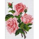 Розовые розы Канва с рисунком для вышивки Матренин посад