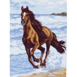 Бегущий по волнам Ткань с рисунком Матренин посад