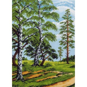 Русские березы Ткань с рисунком Матренин посад