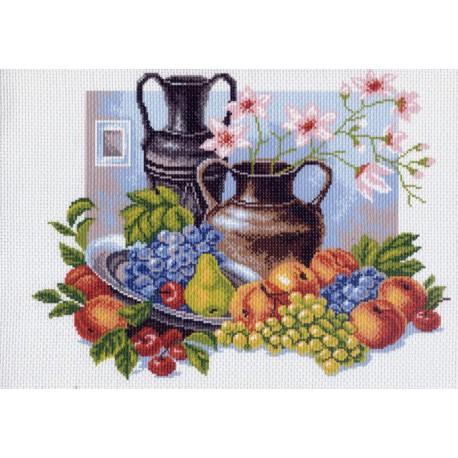 Натюрморт с кувшинами Ткань с рисунком Матренин посад