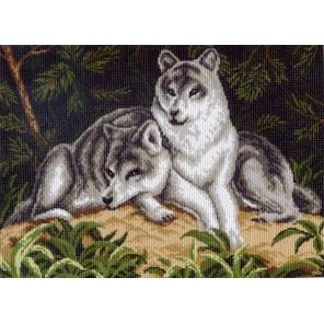 Волчья пара Ткань с рисунком Матренин посад