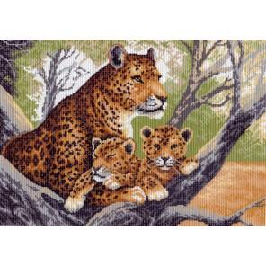 Гепард с малышами Ткань с рисунком Матренин посад