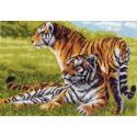 Бенгальские тигры Ткань с рисунком Матренин посад