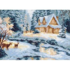Таежный домик Ткань с рисунком Матренин посад