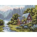 Отдых в горах Ткань с рисунком Матренин посад