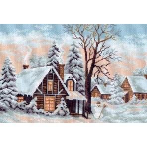 Зима Ткань с рисунком Матренин посад