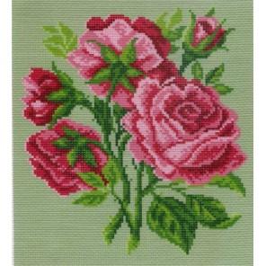 Розовые цветы Ткань с рисунком Матренин посад