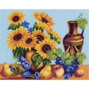 Натюрморт с подсолнухами Ткань с рисунком Матренин посад