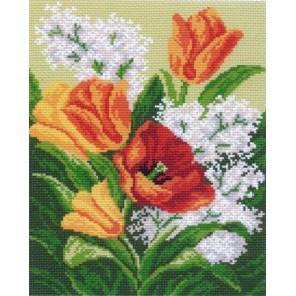 Первые цветы Ткань с рисунком Матренин посад