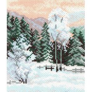 Зимняя пора Ткань с рисунком Матренин посад