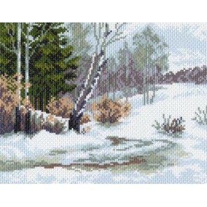 Зимний лес Ткань с рисунком Матренин посад