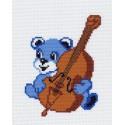 Музыкант Канва с рисунком для вышивки Матренин посад