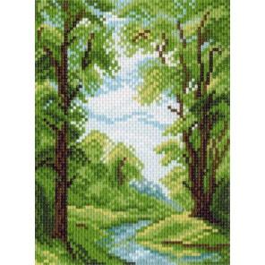 Лесной ручей Канва с рисунком для вышивки Матренин посад