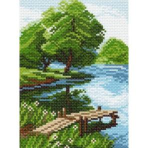 Берег озера Канва с рисунком для вышивки Матренин посад