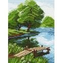 Берег озера Ткань с рисунком Матренин посад