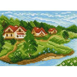 Дачный поселок Ткань с рисунком Матренин посад