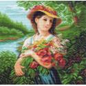 Шикарный букет Ткань с рисунком Матренин посад