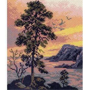 Вечерний пейзаж Ткань с рисунком Матренин посад