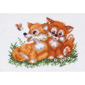 Лисички Ткань с рисунком Матренин посад