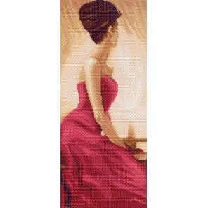 Дама в красном Ткань с рисунком Матренин посад