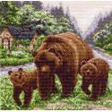 Медвежий угол Ткань с рисунком Матренин посад