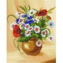Букет полевых цветов Ткань с рисунком Матренин посад