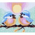 Две птички Ткань с рисунком Матренин посад