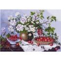 Натюрморт с ягодами Ткань с рисунком Матренин посад