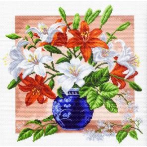 Лилии Ткань с рисунком Матренин посад