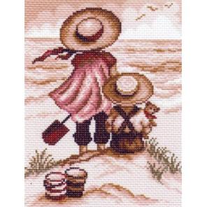Раскладка и ключ - рекомендуемые номера мулине Мечтатели Ткань с рисунком Матренин посад