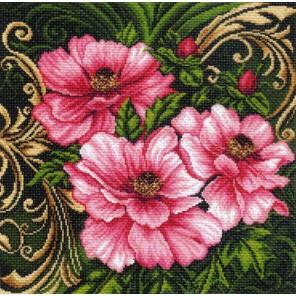 Царские пионы Ткань с рисунком Матренин посад