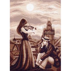 Мелодия в ночи Ткань с рисунком Матренин посад
