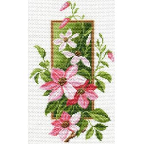 Клематисы Ткань с рисунком Матренин посад